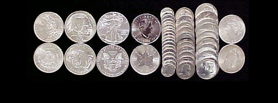 Silver coin collage