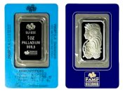 [1 oz. Palladium Bar in Cert. Pack (Swiss)]