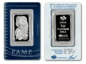 [1 oz. Platinum Bar Cert. Pack (Swiss or JM)]
