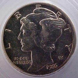 Lovely 1st Year 1916-D Mercury Head Dime