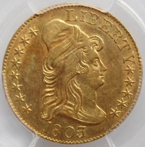 1803/2  U.S. $5 Draped Bust Gold Coin (PCGS)