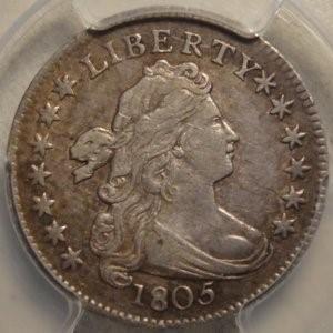 Original 1805 Bust Dime  PCGS XF45   $3,150.00