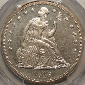 Popular1866 N/M Seated Dollar  $1,995.00