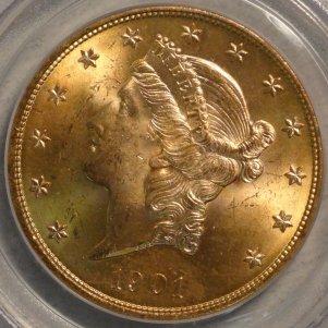 Scarce 1901-P MS64 PCGS $2,595.00