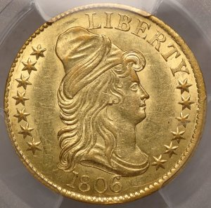 Lovely Bust $5 Gold Half Eagle