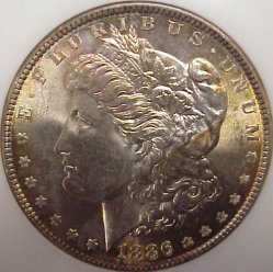 A very pretty gem certified Morgan dollar!