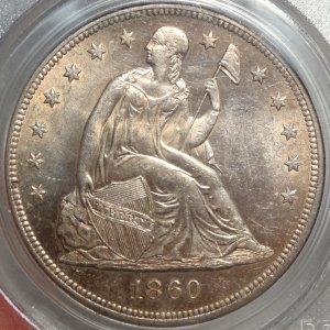 Original PCGS Cert. Seated Liberty Dollar