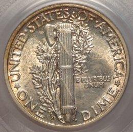 (reverse)Key Date AU58 PCGS 1916-D Mercury Dime $12,995.00