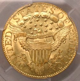 (reverse)Capped Bust $5 gold half eagle $16,995.00