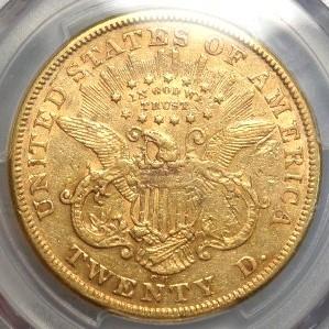 (reverse)1874-CC $20 Gold Coin $3,595.00