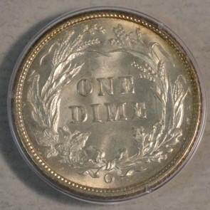 (reverse)RARE Key Date MS62 CAC PCGS 1895-O Dime $11,500.00