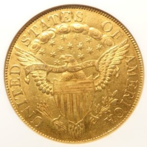 (reverse)1801 Draped Bust $10 Gold Coin AU58 (NGC)