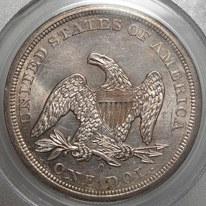 (reverse)Original BU Seated Liberty Dollar PCGS $2,995.00
