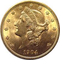 U.S. $20 Gold Liberty only $1,350 ea.!