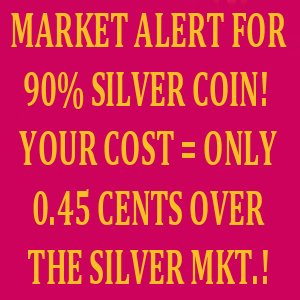 90% JUNK SILVER COIN ONLY $0.45 CENTS OVER!